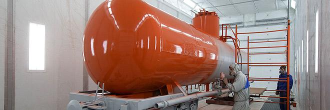 Окрасочно-сушильные камеры для производства и ремонта локомотивов и вагонов