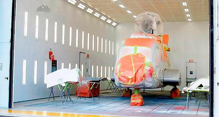 Покрасочные камеры для вертолетов, фото